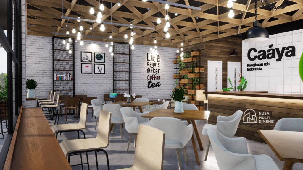 Desain Caaya Cafe Jakarta - Nusa Multi Dimensi 2