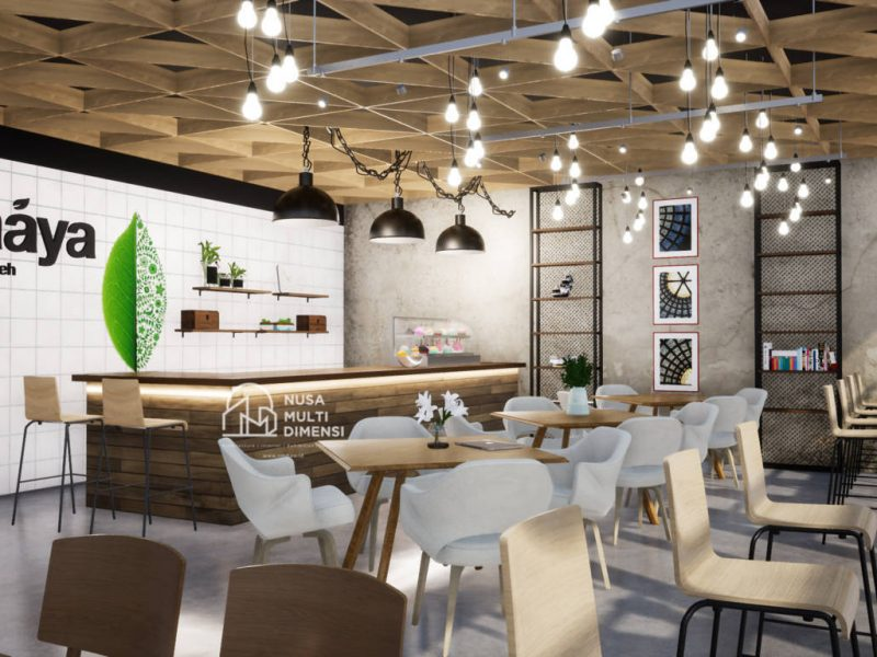 Desain Caaya Cafe Jakarta - Nusa Multi Dimensi 3