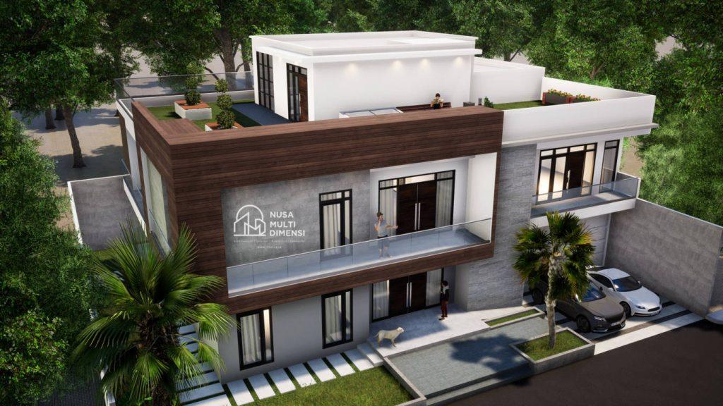 Desain Rumah Split Level Karawaci 3