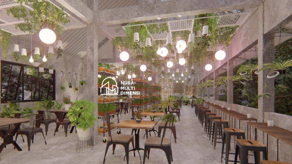Desain Interior Cafe Florist Bogor 10