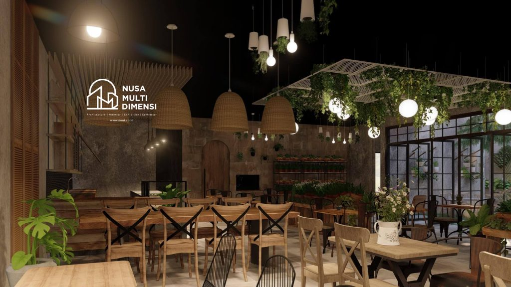 Desain Interior Cafe Florist Bogor 3