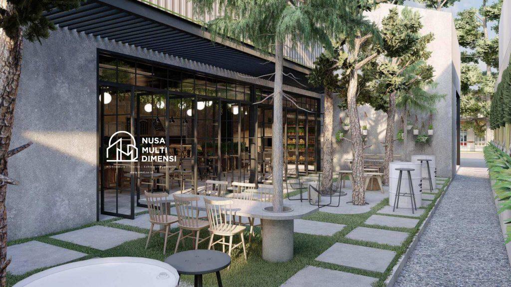 Desain Interior Cafe Florist Bogor 6