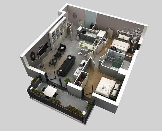 Denah Rumah 2 Lantai 4